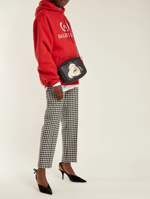 Everyday Camera Xs Animal Print Cross Body Bag Balenciaga Matchesfashion Us Hooded Sweatshirts Balenciaga Black Leather
