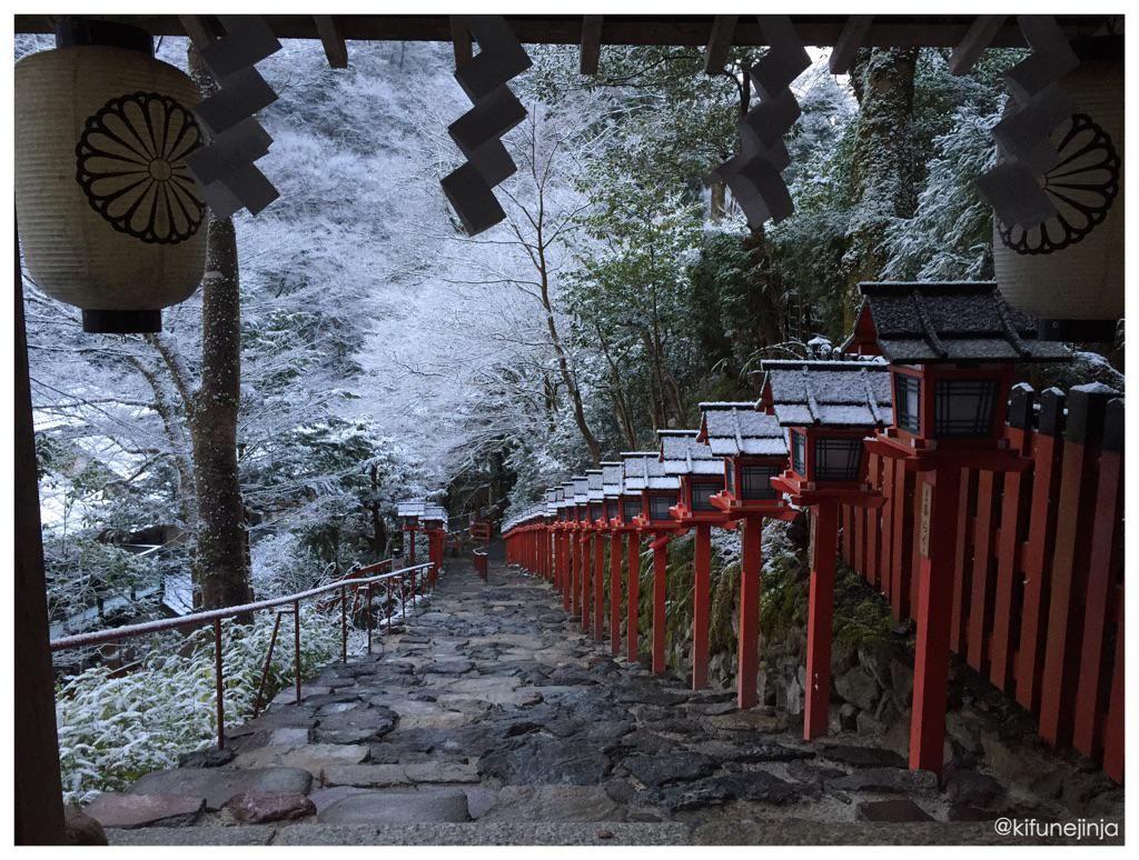 貴船、春の淡雪。 この世界には、いつも驚かされる。 (平成27年3月24日 6:00撮影)  #氣生根 #貴船神社 #kifune