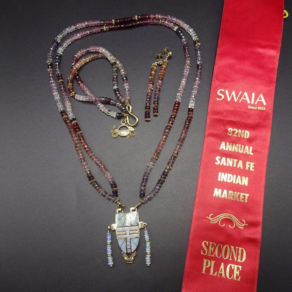 Rare melanie kirklente nd place swaia k gold necklace bracelet