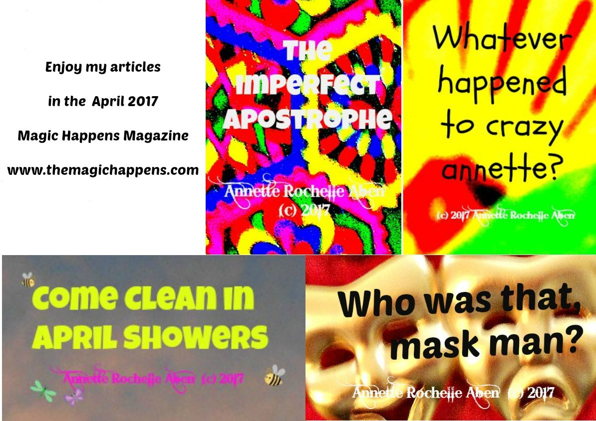 All your friends atThe Magic Happenshave showered up and are presenting a squeaky clean edition of their digital magazine! Follow the link and enjoy a plethora of thoughts, opinions and conversa…