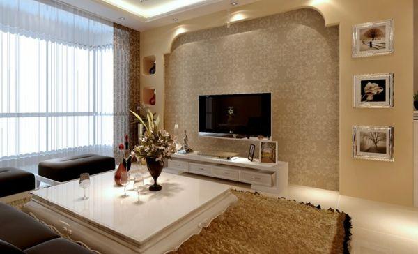 wandgestaltung wohnzimmer grau contration deko ideen. wohnzimmer