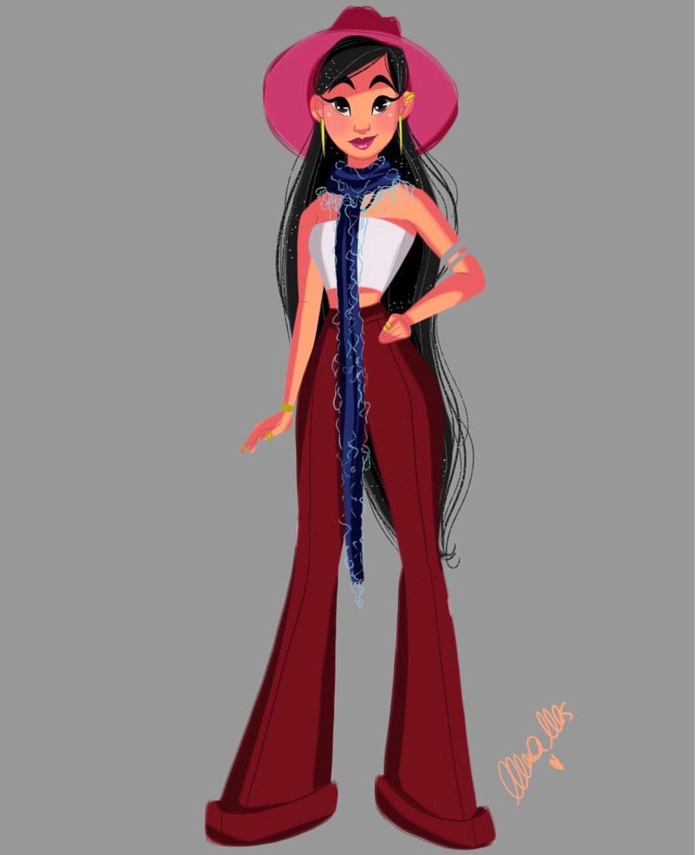 Nerea Mas Disney Modern Mulan Disney Princess Fashion Disney Artwork Mulan Disney
