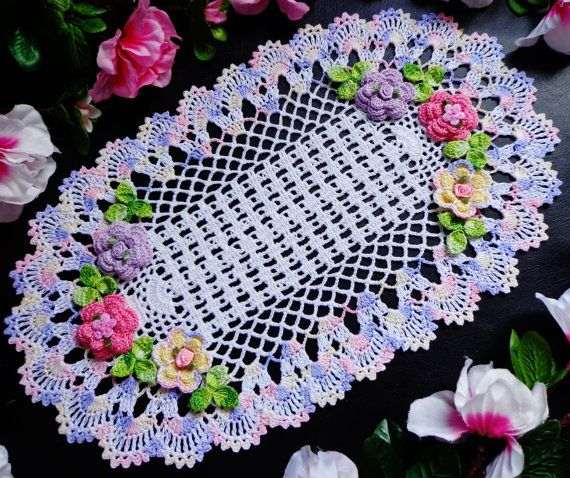 New hand crochet doily.  (A lot of work to crochet this - beautiful). H.