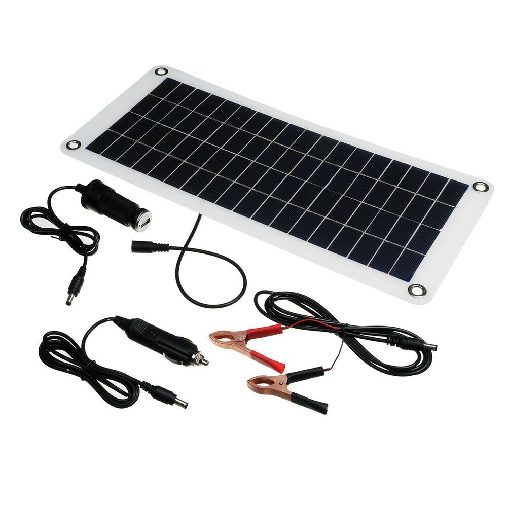 12w 18v Solar Panel Kits Solar Power Battery Charger Charging Polysilicon Home Unbranded Solar Power House Solar Power Battery Charger Solar Power Panels