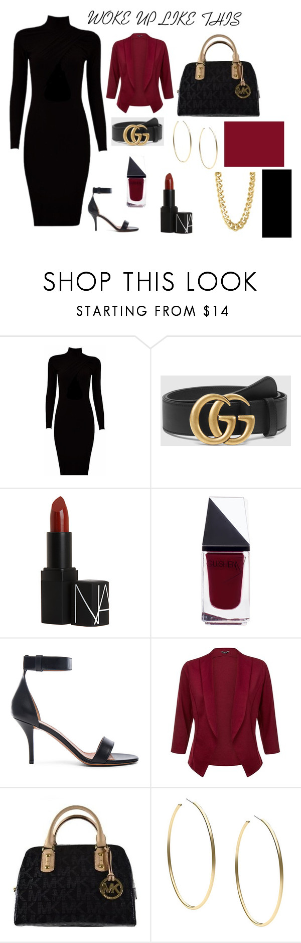 """simple @ classic"" by hhhhiiiiiiiiiii ❤ liked on Polyvore featuring Gucci, NARS Cosmetics, GUiSHEM, Givenchy, Michael Kors and CC SKYE"