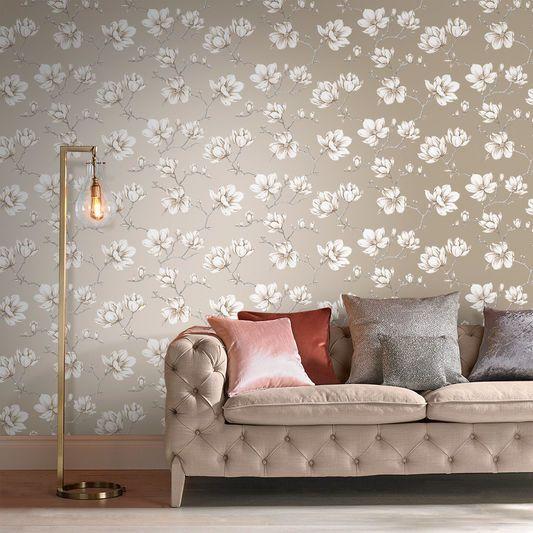 Pierre White Gold Wallpaper Graham Brown Uk White And Gold Wallpaper Gold Wallpaper Grey Floral Wallpaper