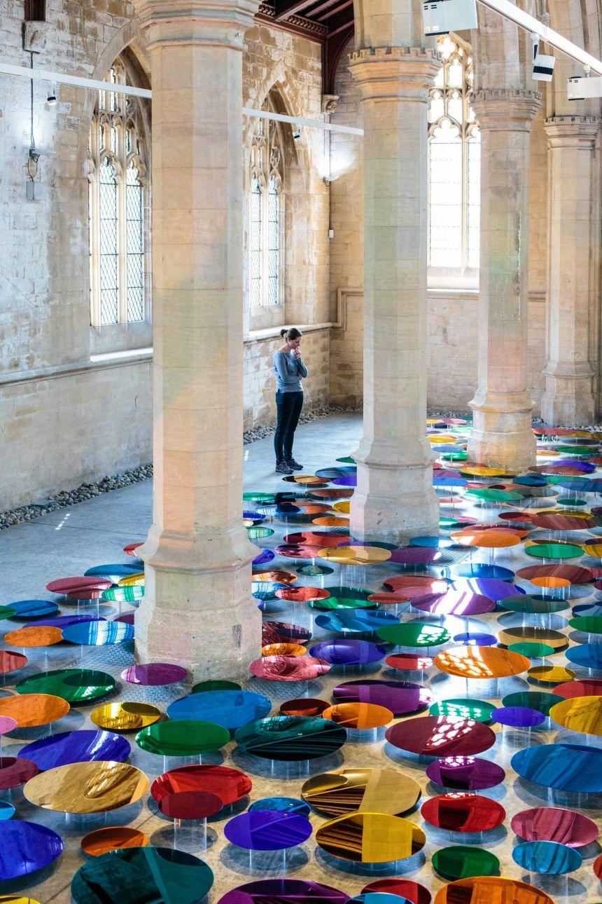 Artist Transforms Church Colourful Space