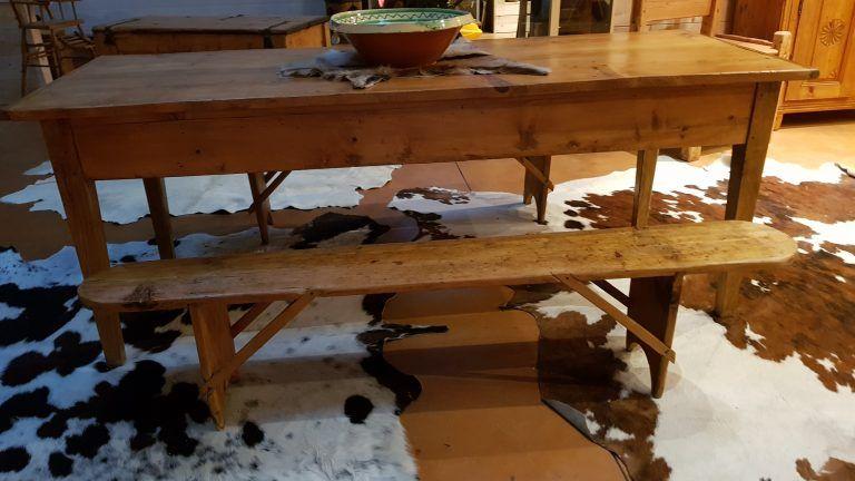 Meubles Table De Ferme Chalet Montagne Thones Grand Bornand