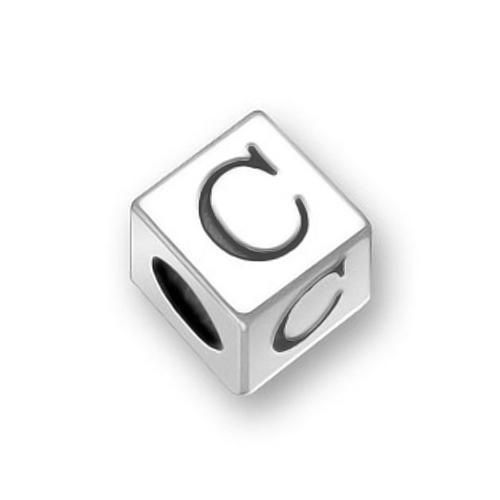 Sterling Silver Block Letter C Oriana Pugster Pandora Bead