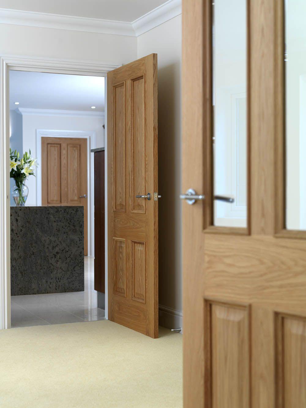 Beautiful Pre Finished Oak Veneered Interior Doors Jb Kinds Royale