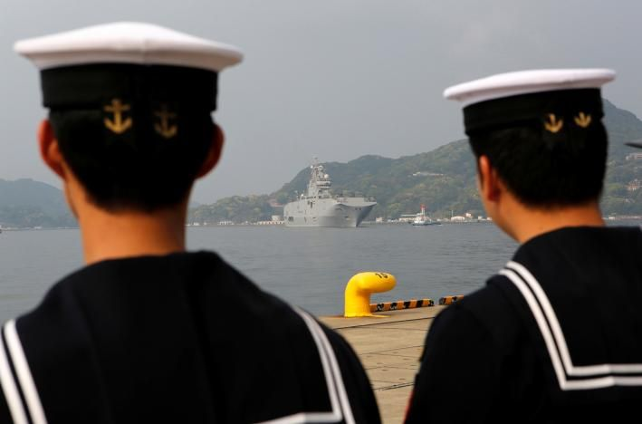 French amphibious carrier visits Japan ahead of Pacific show of power | Reuters