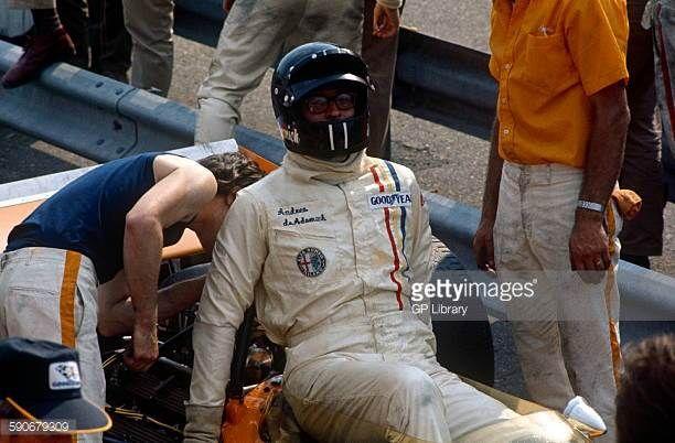 Andrea de Adamich close up in the pits Dutch GP Zandvoort 21 June 1970
