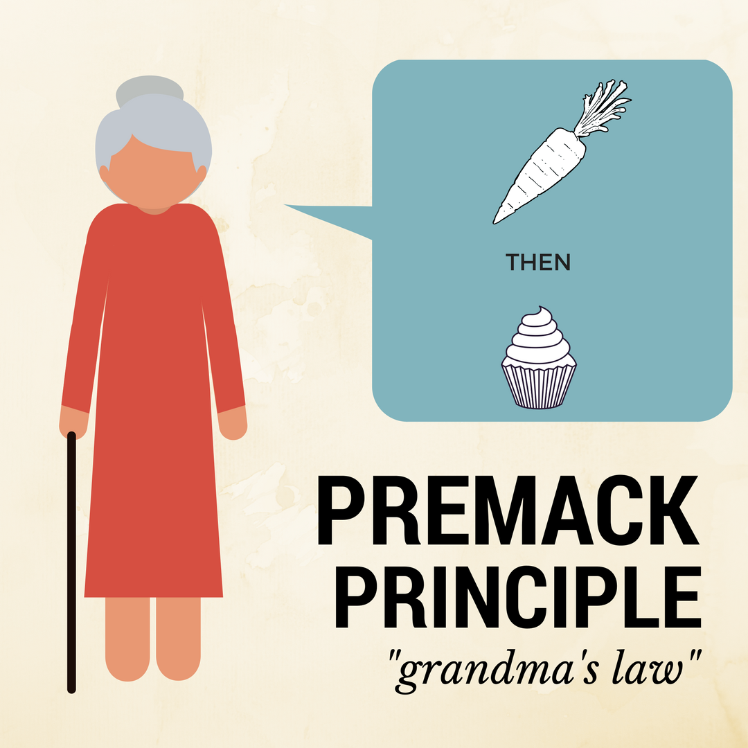 Sometimes Referred To As Grandma S Law The Premack