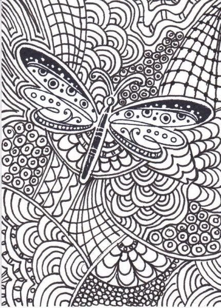 Libellule 3349 coloriage imprimer zentangle - Photo de libellule a imprimer ...