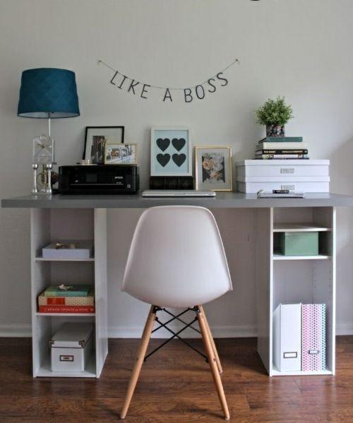 Büro schreibtisch selber bauen  schreibtisch selber bauen bunt holz preisgünstig urban like a boss ...