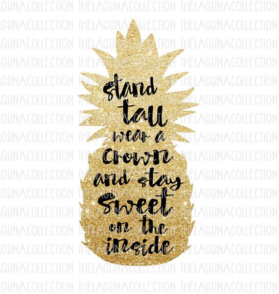 Be A Pineapple Pineapple Svg Stand Tall By Thelagunacollection