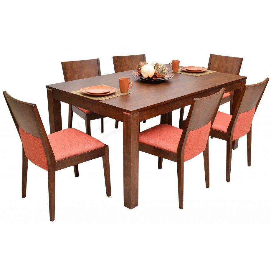 Commodity juego de comedor tmhc205 159t madera para 6 for Estilos de sillas para comedor