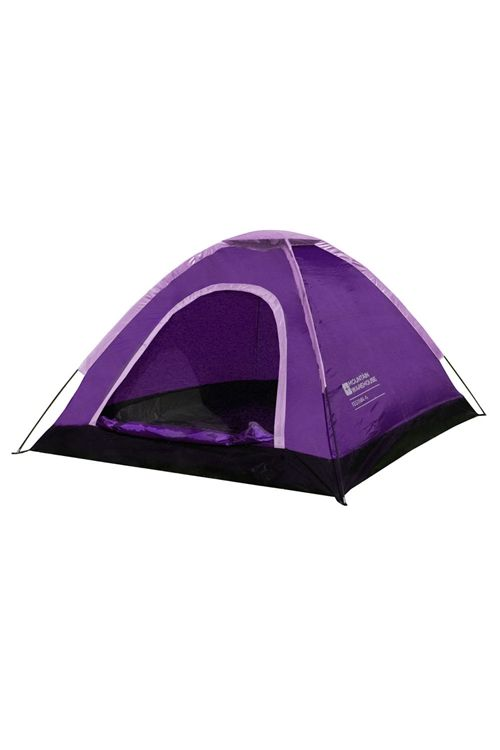 Purple 4 Man Festival Dome Tent Camping