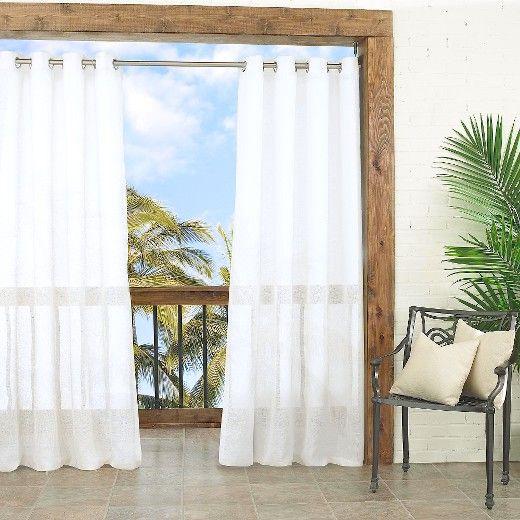 Summerland Key Sheer Indoor/Outdoor Curtain Panel   Parasol : Target