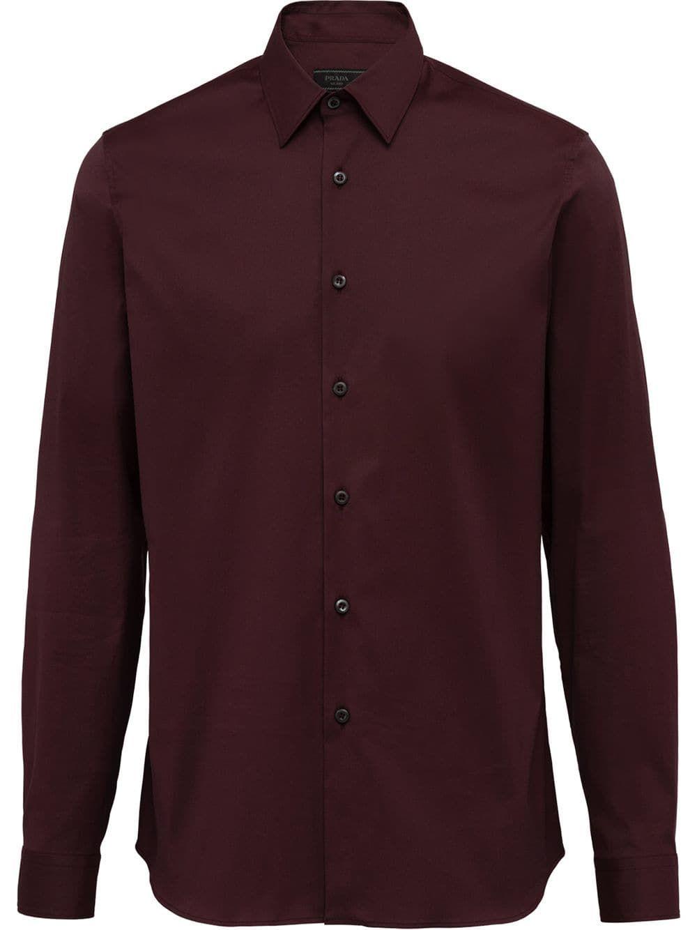 49b51599 PRADA PRADA STRETCH POPLIN SHIRT - RED. #prada #cloth | Prada ...