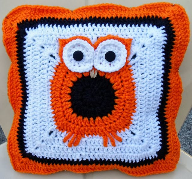 Happier Than A Pig In Mud Crochet Owl Pillow Cover Pattern Free