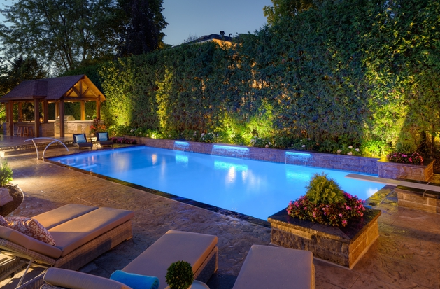 Pool Stonework Lighting All Done By Betz Pools Via Homestars
