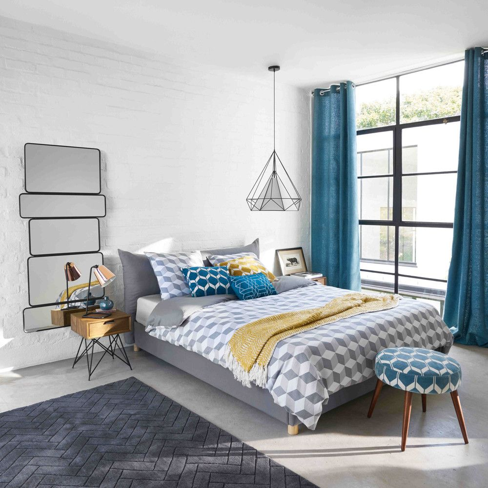 Affordable Contemporary Bedroom Furniture: Lit 160x200 Gris In 2019