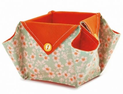 Origami Fabric Boxes - Free sewing patterns - Sew