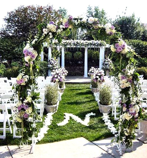 43 Best Outdoor Wedding Entrance Ideas - I love Pink - Floral Arch Can Also Be Done Entrance For Outdoor Weddings