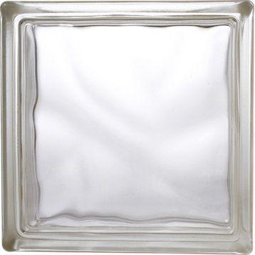 Brique de verre, neutre, ondulée brillante Leroy Merlin