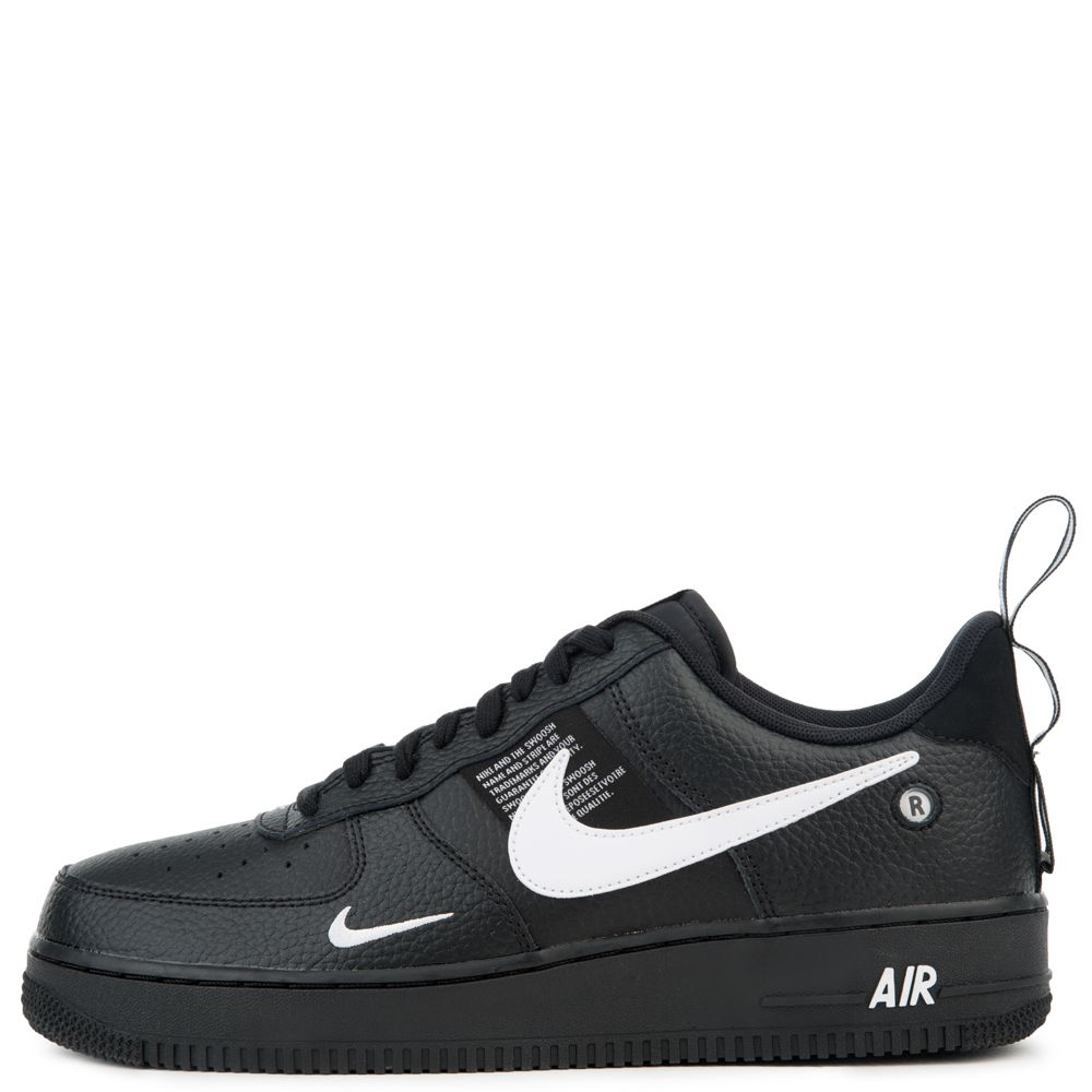 detailed look 62603 06ea3 Nike Air Force 1  07 Lv8 Utility Black white-black-tour Yellow