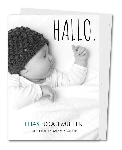 Geburtskarte Großes Hallo