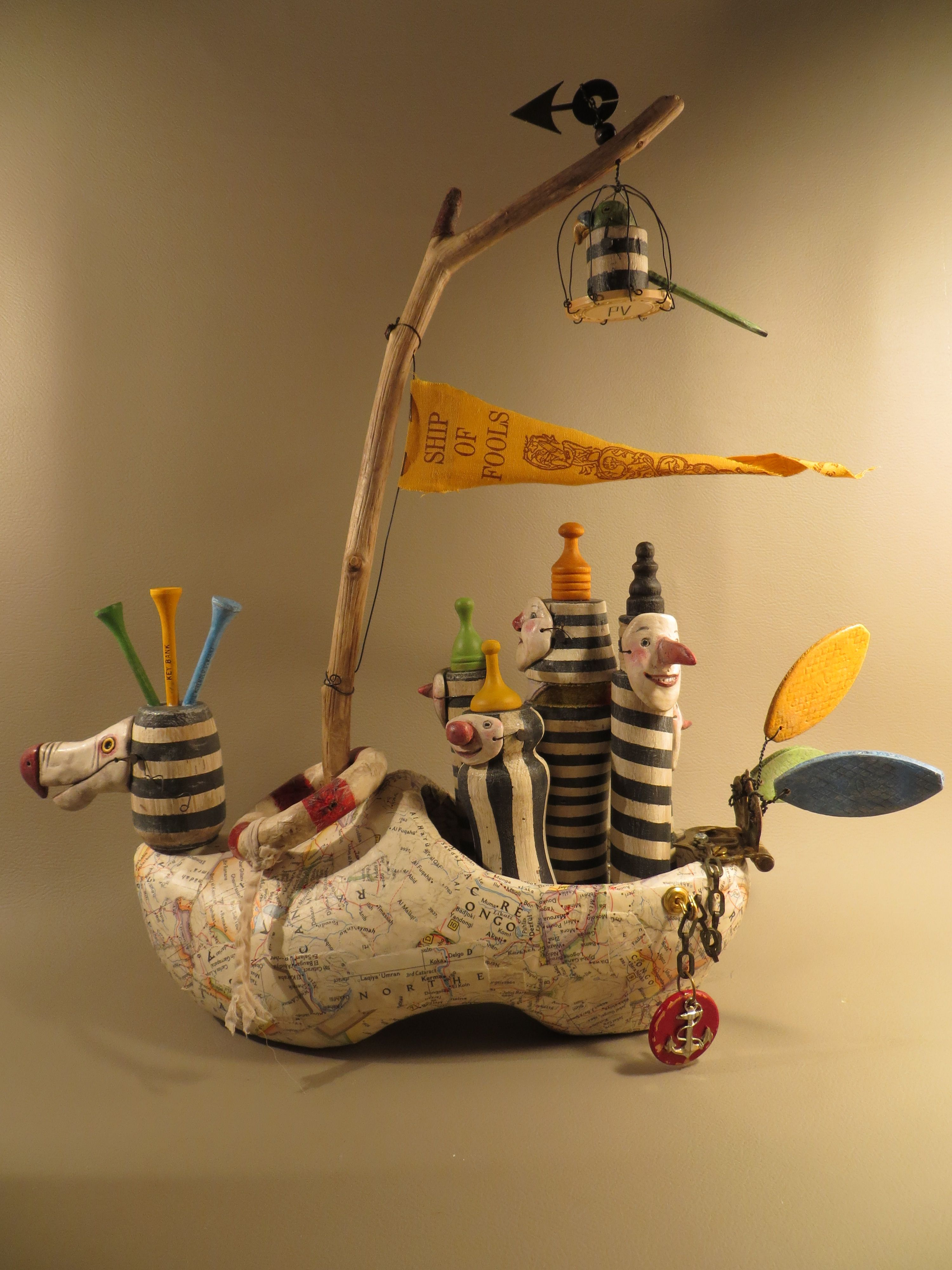 Ship Of Fools Artwork By Leona Keene Sewitsky Art Dolls Pcb Sculptures Artist Upcycles Old Circuit Boards Into