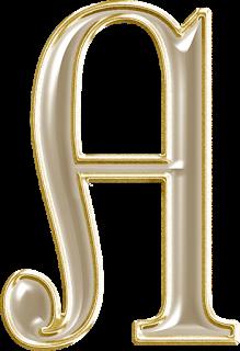 foto de Alfabeto Dourado Letras Maiúsculas e Numerais