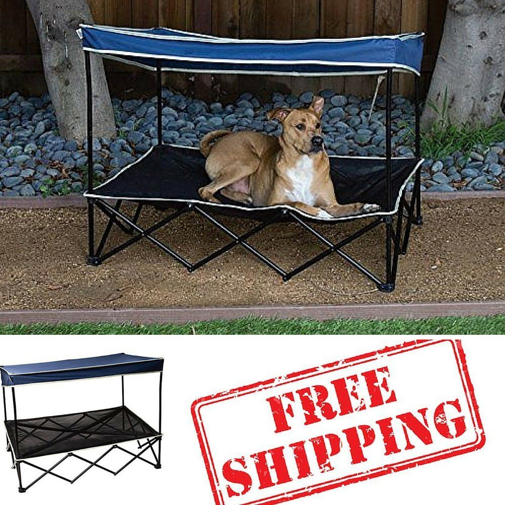 Outdoor Dog Bed With Canopy,Pet Shade,Dog Shade Canopy