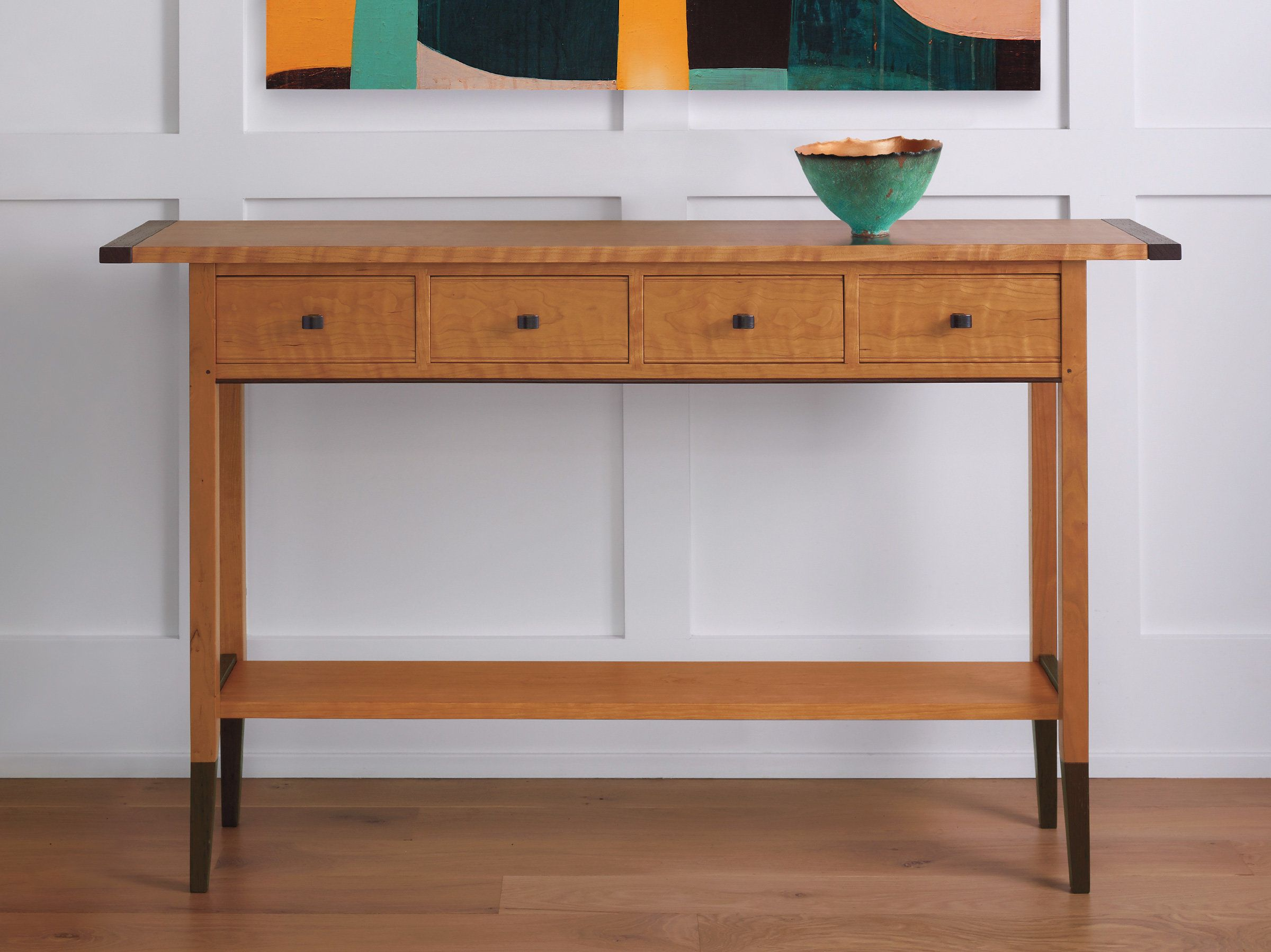 Solid Cherry Table By Tom Dumke Wood Console Table Artful Home Wood Console Table Wood Console Console Table