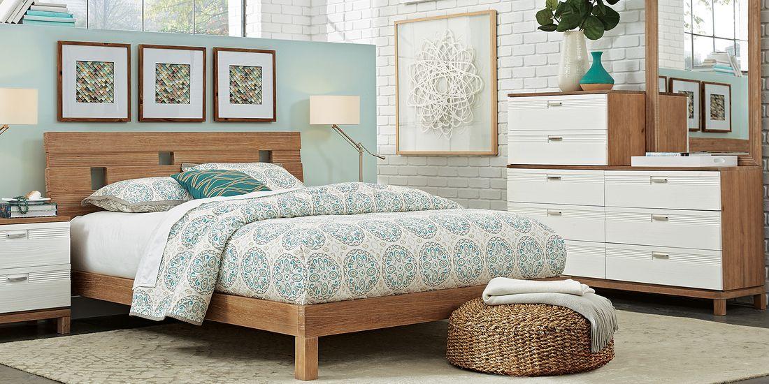gardenia pecan 6 pc king platform bedroom in 2020