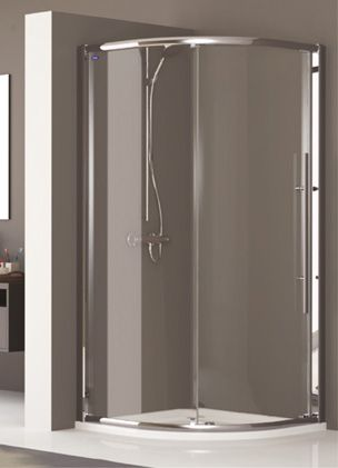 One of the most famous names in the shower enclosure field Showerlux is back with the Linea Touch single door quadrant enclosure. & One of the most famous names in the shower enclosure field ...