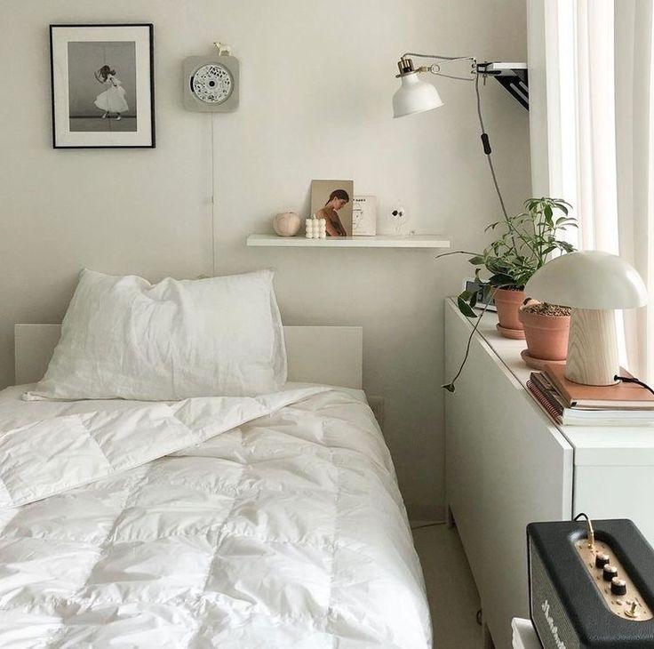 𝒫𝑒𝒶𝒸𝒽𝓎 . Home bedroom, Bedroom interior, Aesthetic bedroom