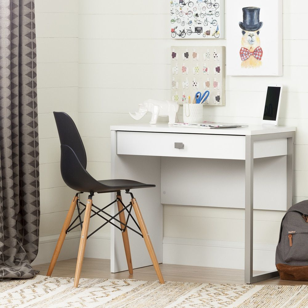 South Shore White Single Drawer Interface Desk By South Shore Furniture