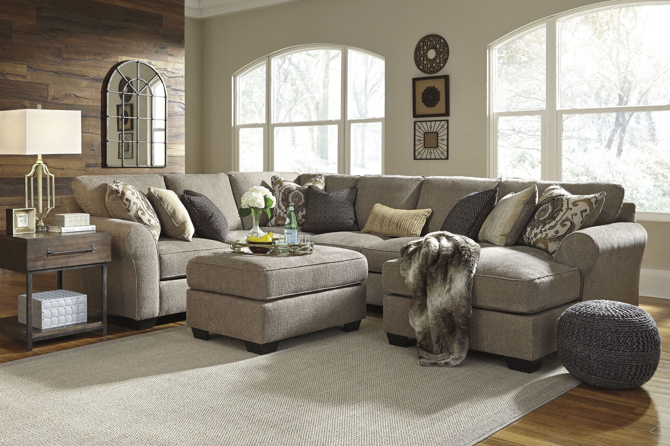 The Pantomine Sectional Speaks To Those Drawn To Fresh Contemporary Style With Richly Neutral Appeal Living Room Furniture City Furniture Sectional Sofa Couch