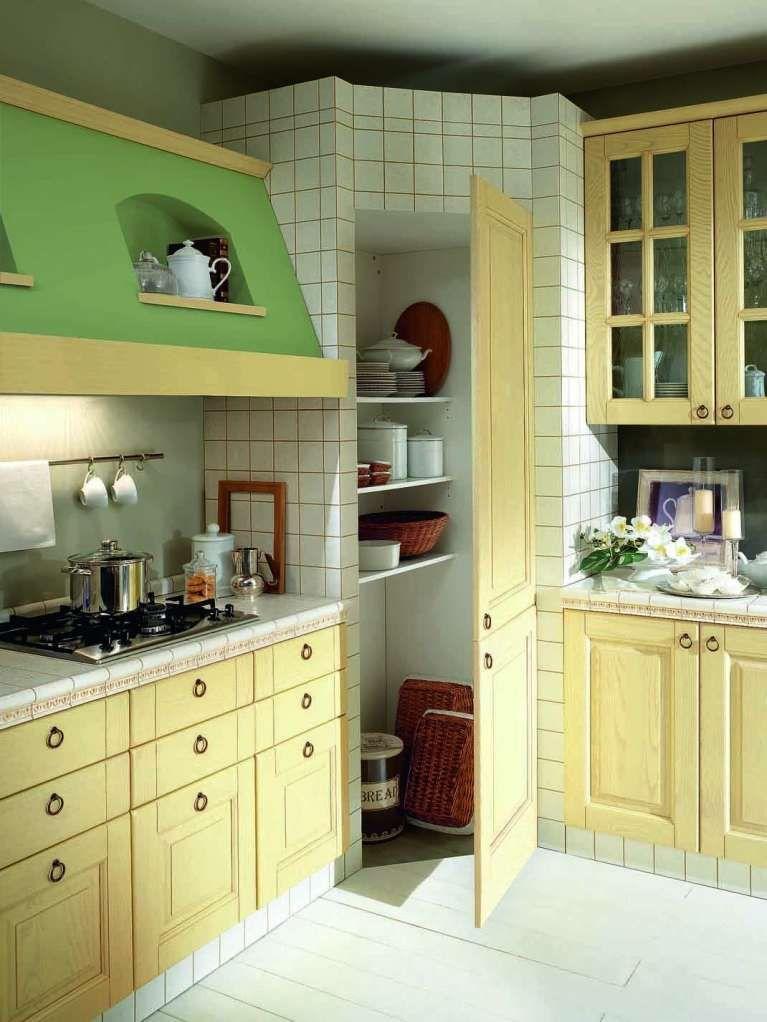 Cucine in muratura rustiche e moderne - Cucina in muratura verde e ...