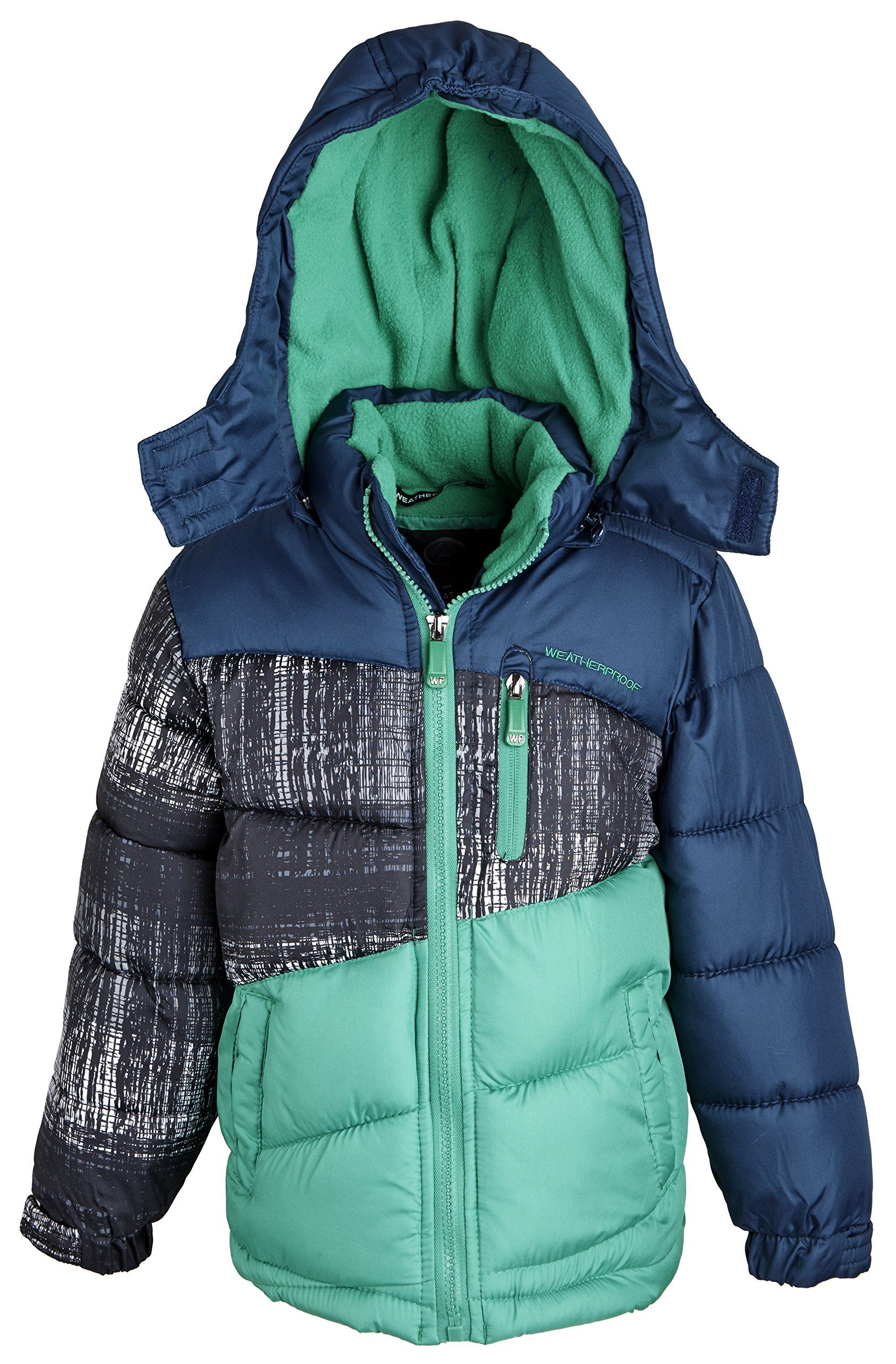 ff90a587cc48 Weatherproof Big Boys Down Alternative Hooded Winter Puffer Bubble ...