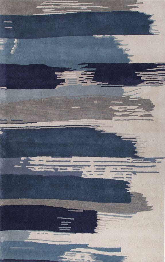 Jaipur Rugs - Jaipur Rugs En Casa By Luli Sanchez Painterly Lst35 White-Dark Denim Area Rug #109836