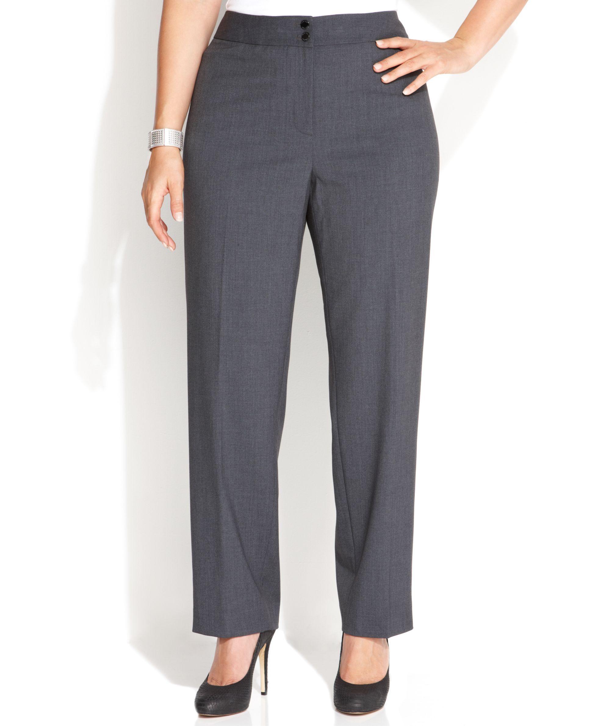 Calvin Klein Plus Size Wide Leg Dress Pants Products
