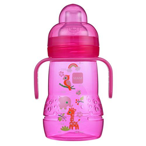 1-Count MAM Trainer Cup 8 Ounces Trainer Cups for Babies with Handles Girl