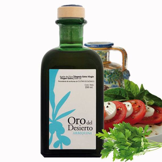 "Organic Extra Virgin Olive Oil ""Oro del Desierto Arbequina"""