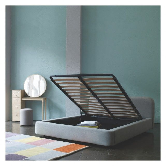 Ottori Grey Wool Super King Bed With Storage 180cm Buy Now At