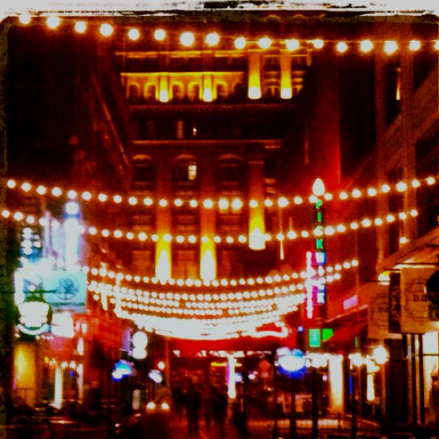 East 4th street at night