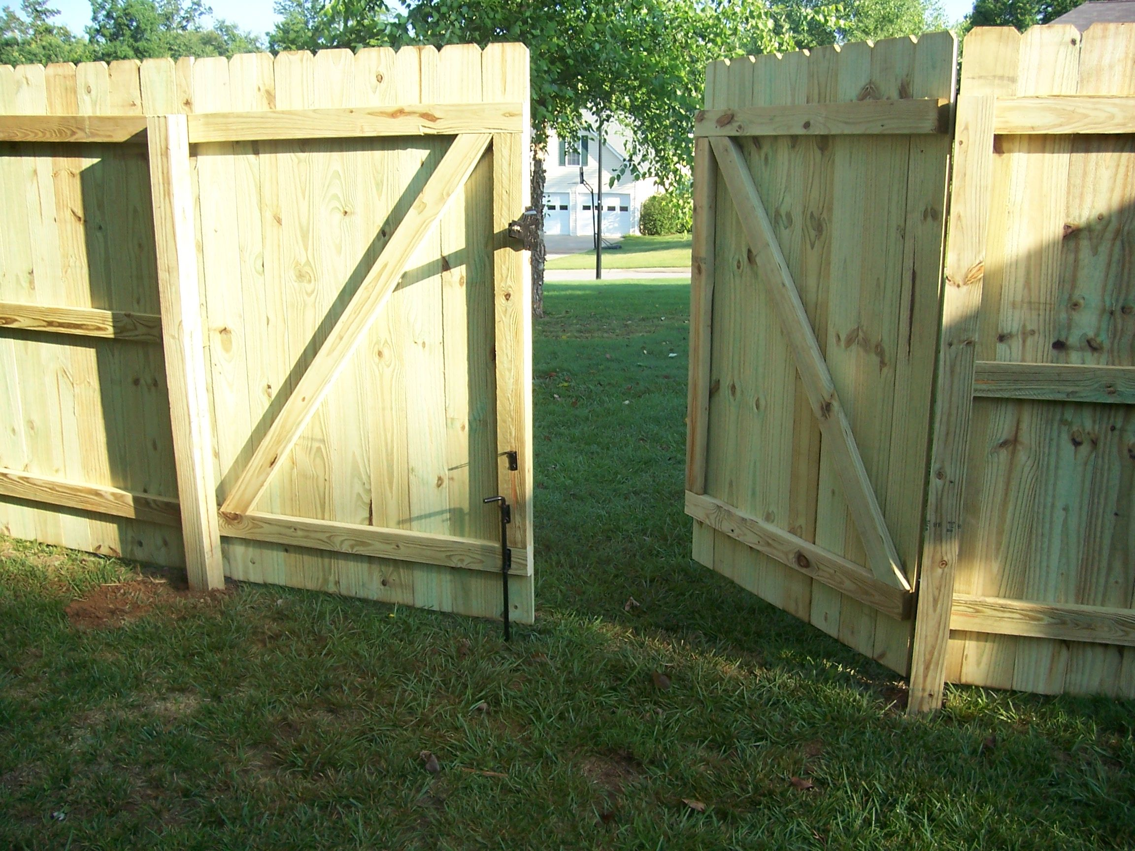 wood fence double gates Google Search